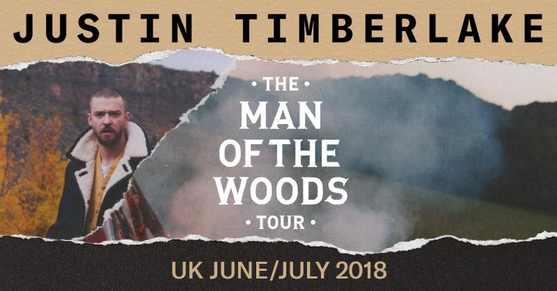 Justin Timberlake UK Tour Dates
