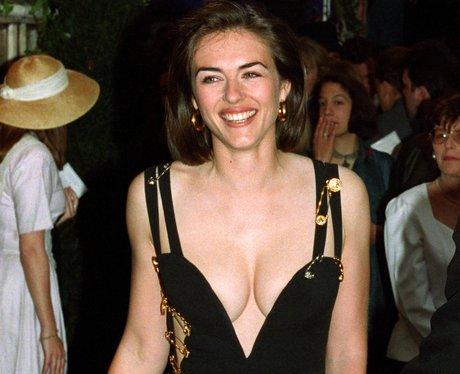 Liz Hurley's safety pin dress
