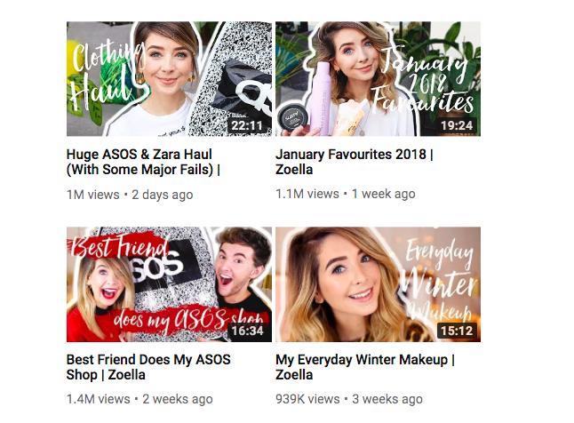 YouTuber Hauls