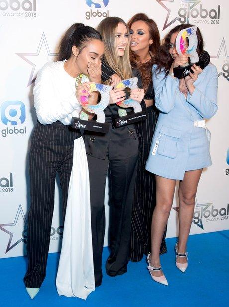 Little Mix Global Awards 2018 backstage