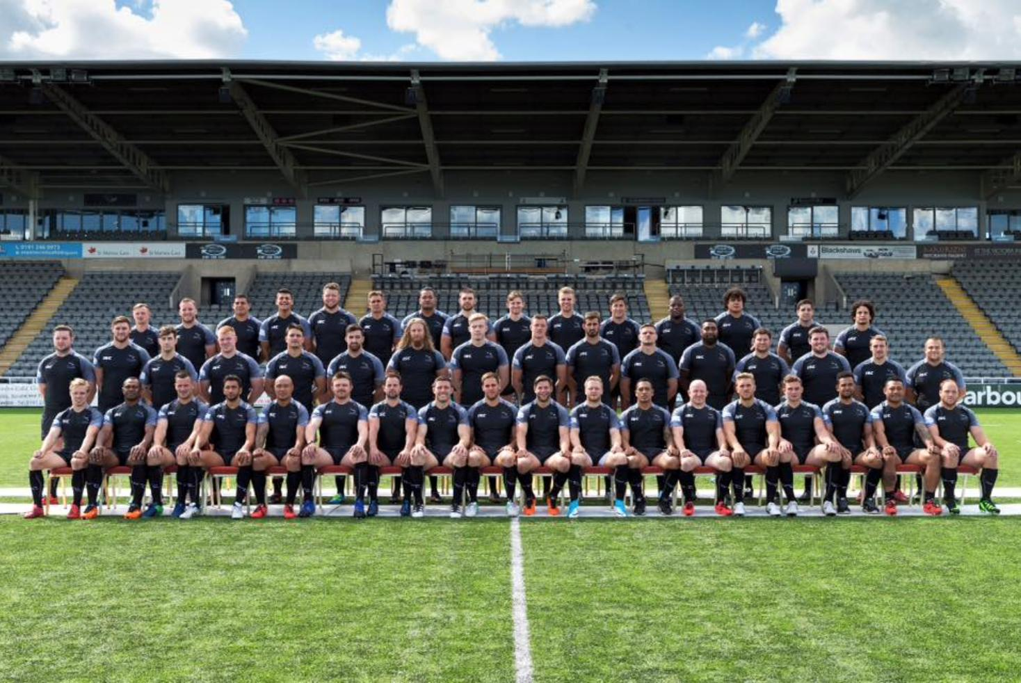 Newcastle Falcons team photo 17/18