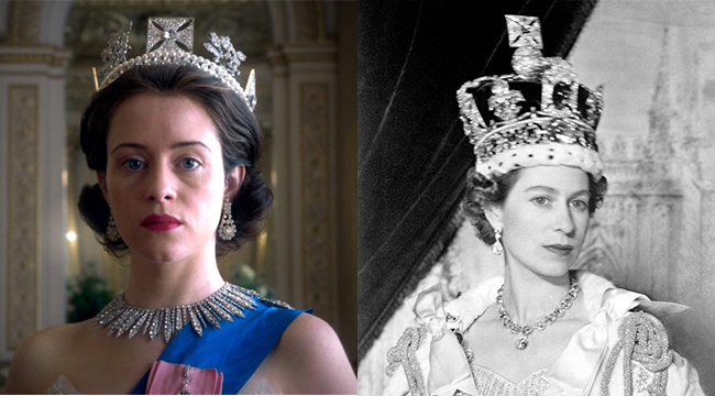 Claire Foy and The Queen