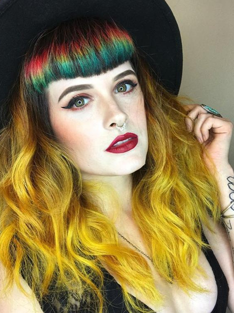 Weird Beauty, Rainbow Fringe, Paintbrush Hair