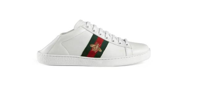 Gucci shoes for 'taking the bins out'