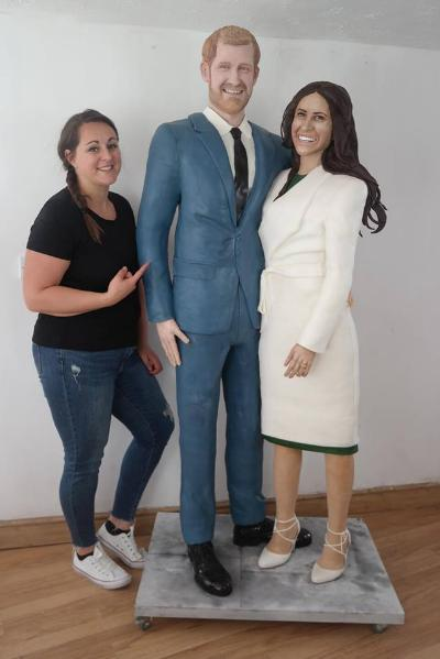 Prince Harry and Meghan Markle cake