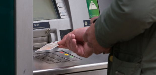 ATM pulled from bank branch by gang