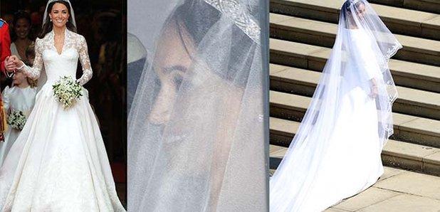 Royal Wedding Dress Meghan Markle.How Meghan Markle S Wedding Dress Compares To Kate Middleton S Heart