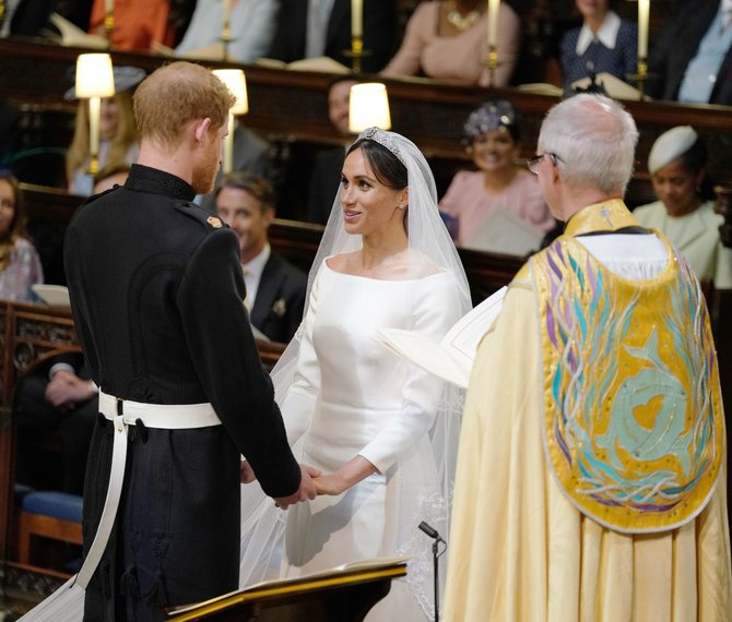 Prince Harry and Meghan Markle in St George's Chap