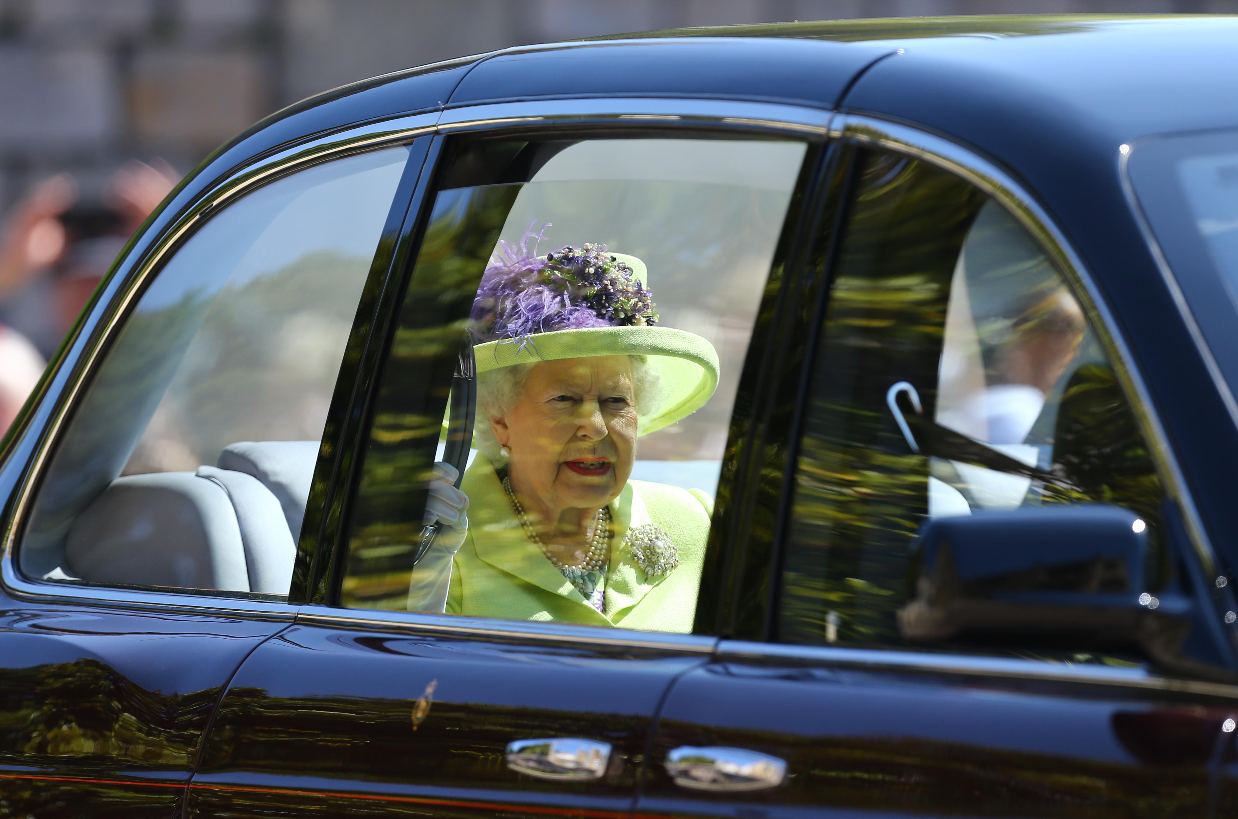 Queen Elizabeth II and the Duke of Edinburgh arriv