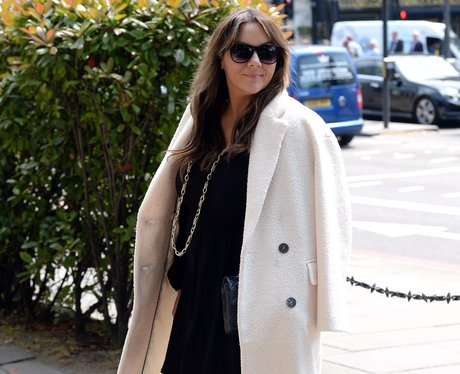 Martine McCutcheon arrived to pay her respects