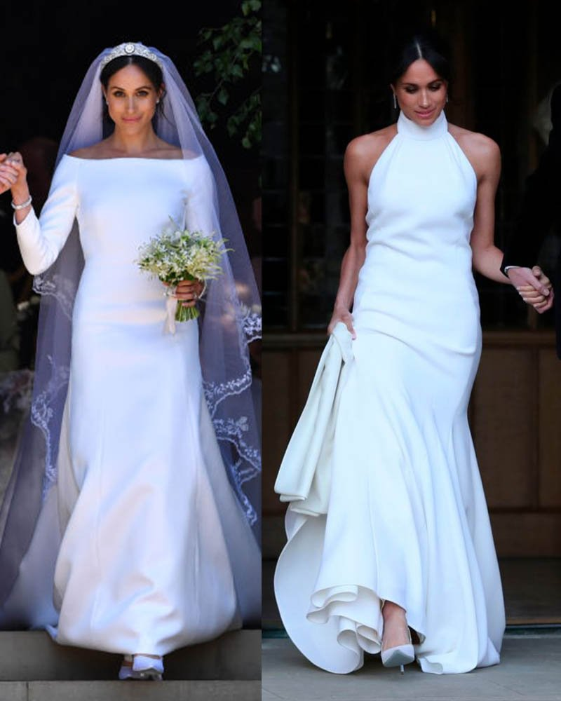 Meghan Makle First And Second Wedding Dress... Which Was Best?
