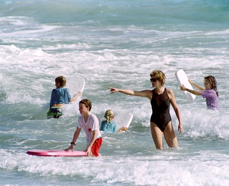 Prince Harry and Prince William surfing