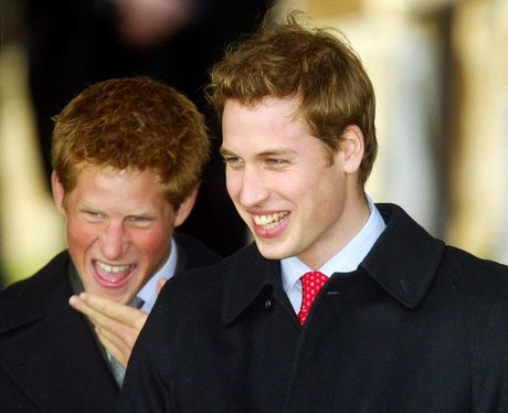 Prince Harry and Prince William Christmas Day