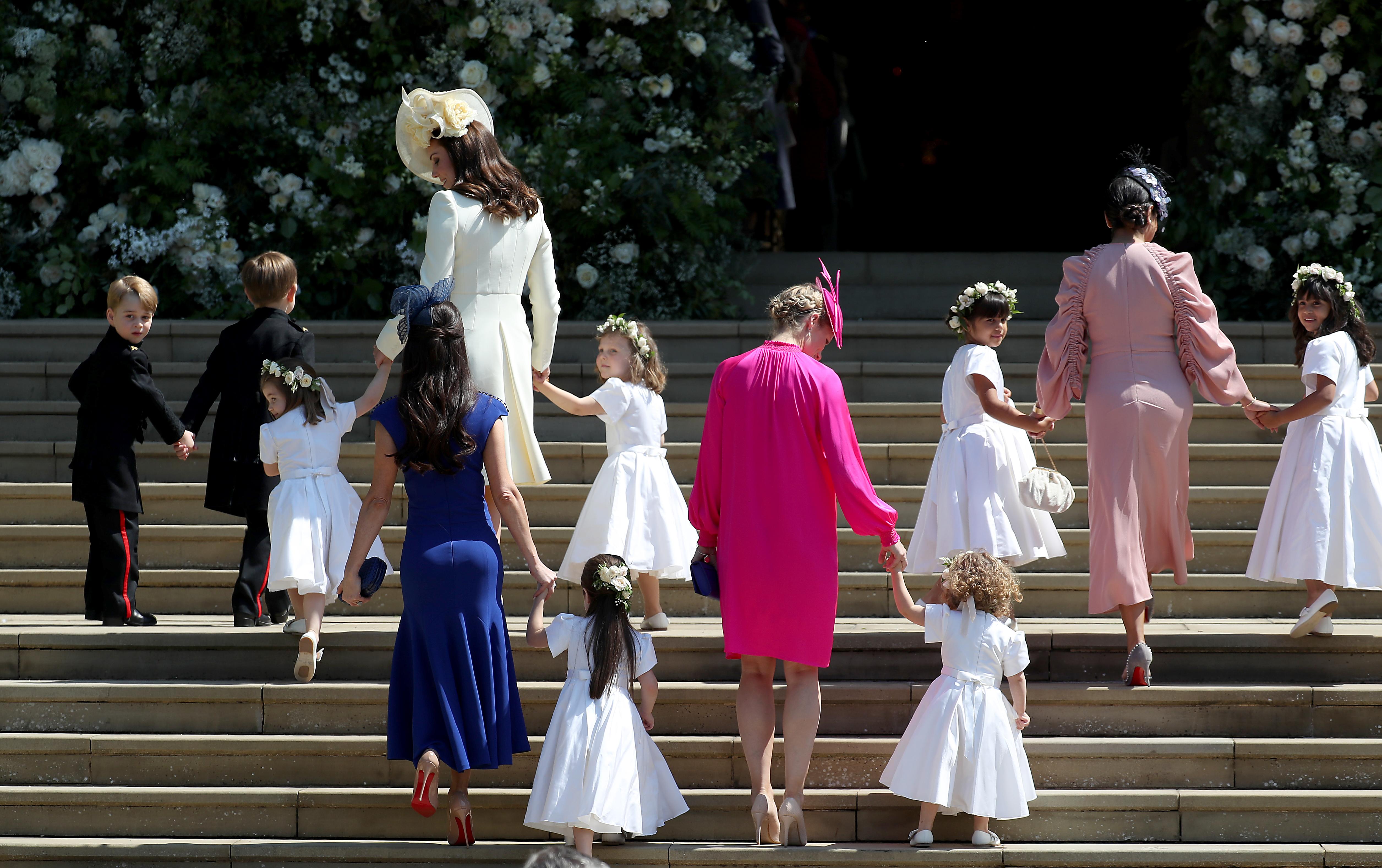 Royal bridesmaids pageboys