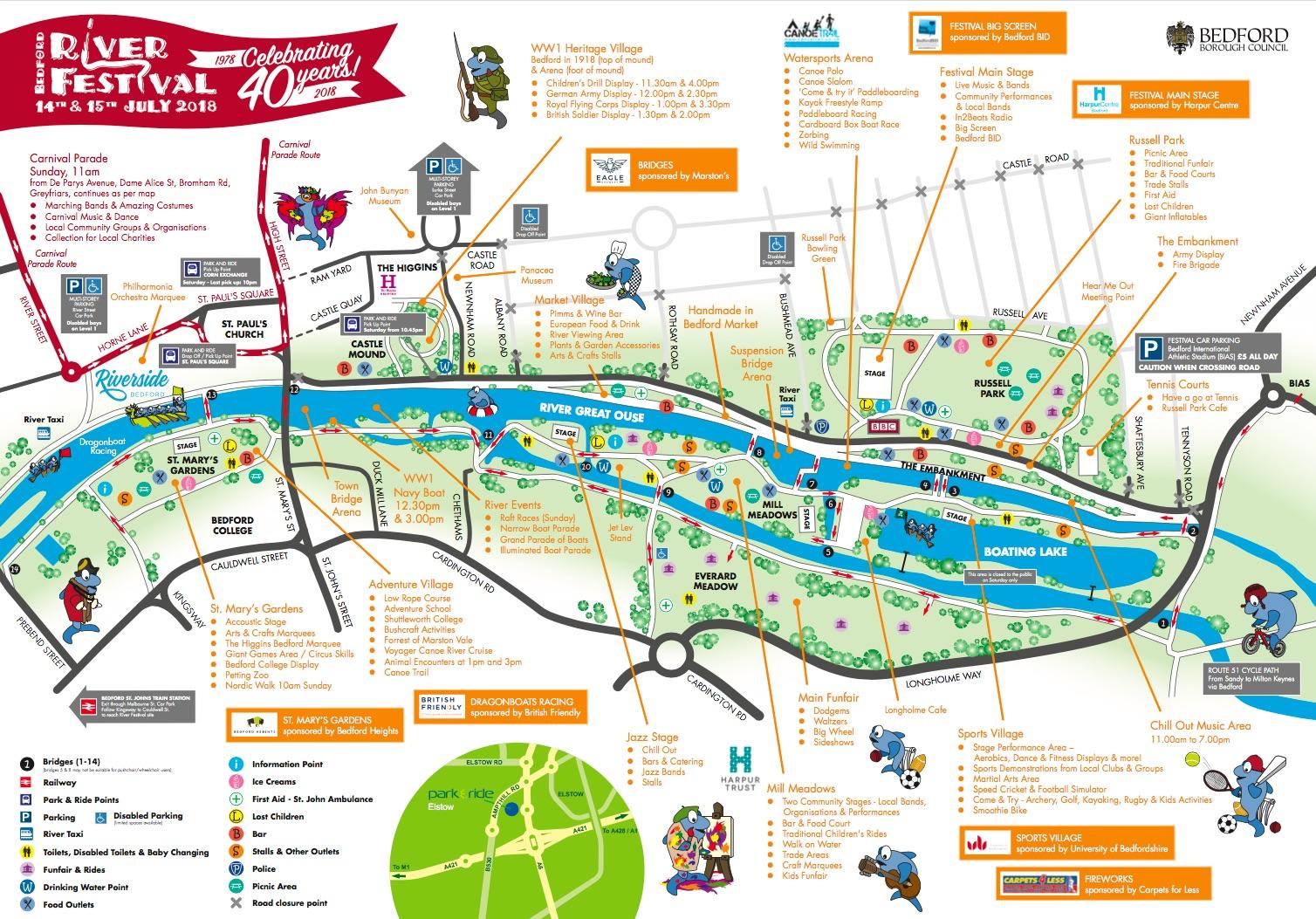 Bedford River Festival Map 2018