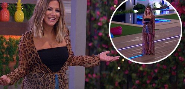 eb87cb763b Caroline Flack leopard print cover up  Love Island presenter stuns ...