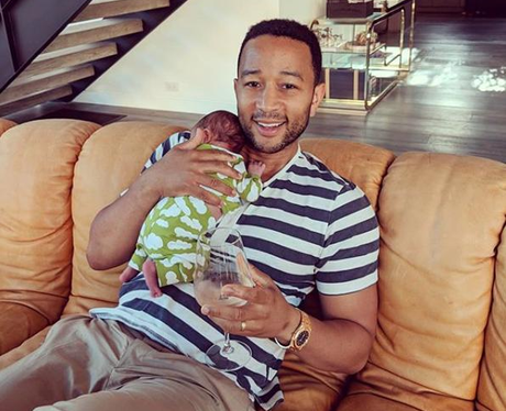 John Legend and son