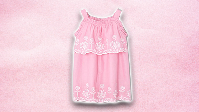 Pink kids summer dress 1