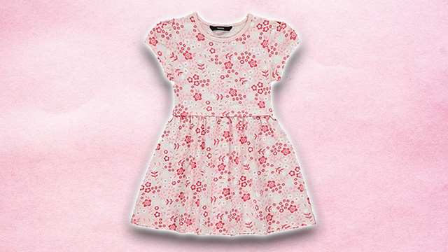 Pink kids summer dress