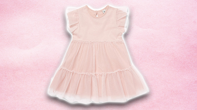 Pink kids summer dress 3