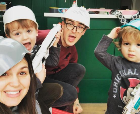 Tom Fletcher and kids
