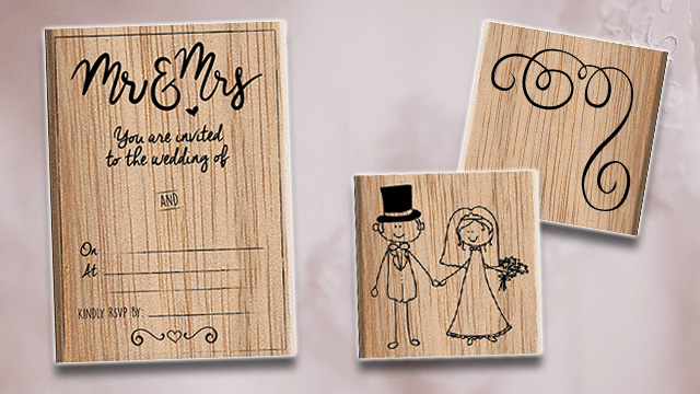 Wedding stamps invites