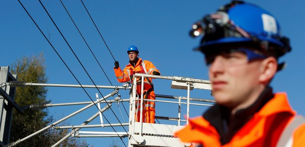 Boy critically ill after touching overhead lines on railway