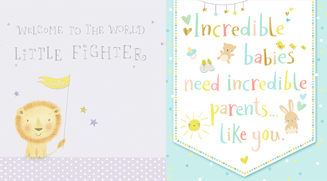 Premature baby cards