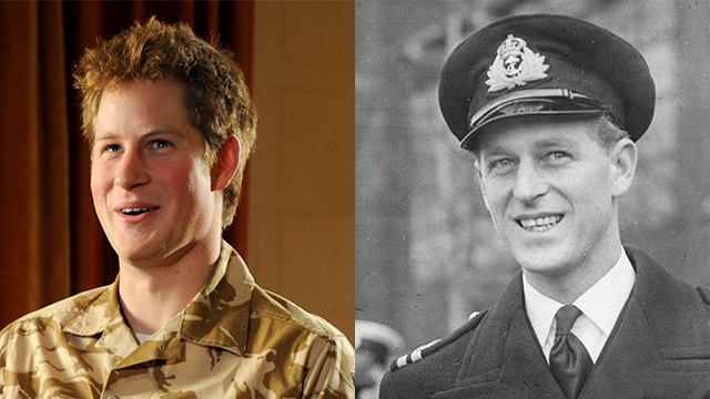 Prince Philip and Prince Harry 1