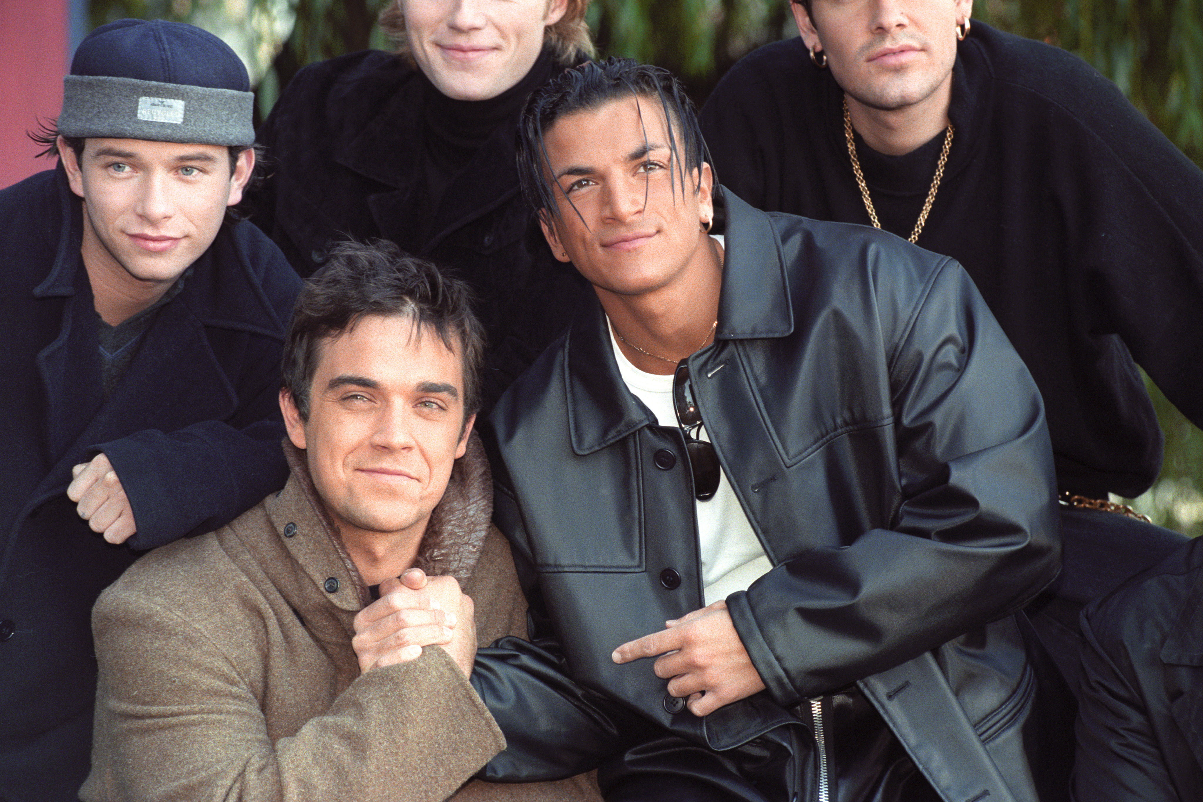 Peter Andre and Robbie Williams