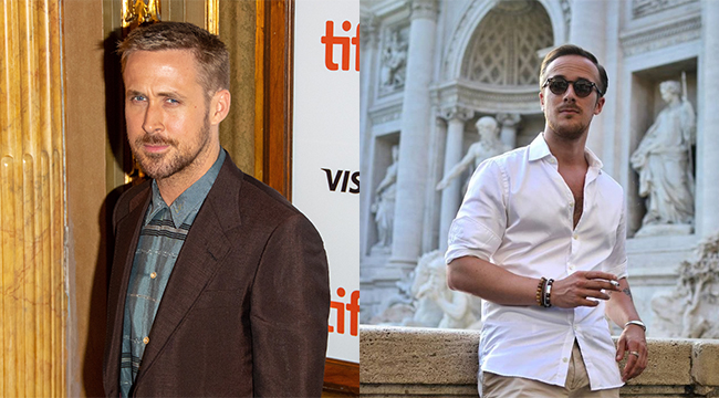 Ryan Gosling fashion blogger lookalike