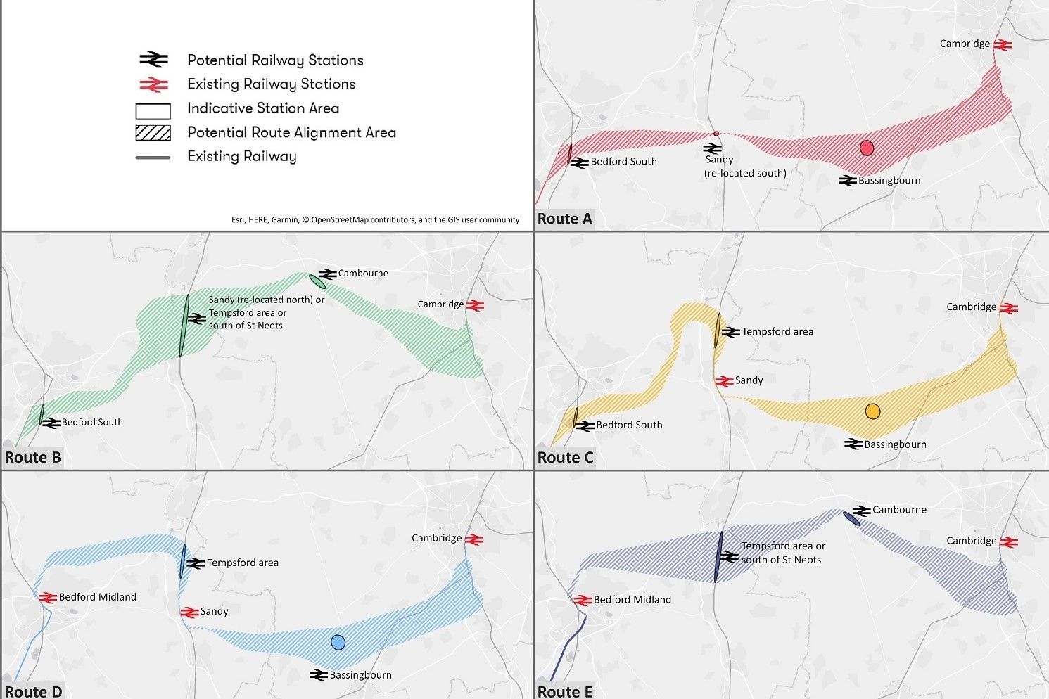 East West Route Options