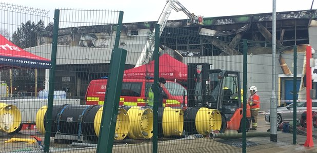 Firecrews Remain At Scene Of Ocado Warehouse Fire - Heart