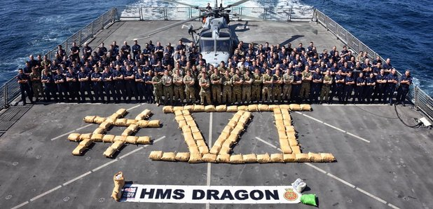 6th Drug Bust For Portsmouth Warship HMS Dragon