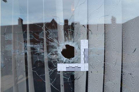 Gunshots were fire through the window