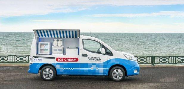 Nissan unveils prototype for zero-emission ice cream van