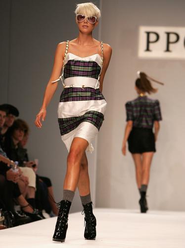 Agynees Deyn sashays down the catwalk for PPQ