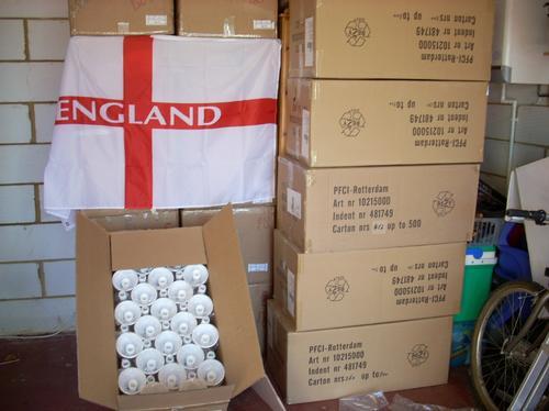 Boxes of Vuvuzelas