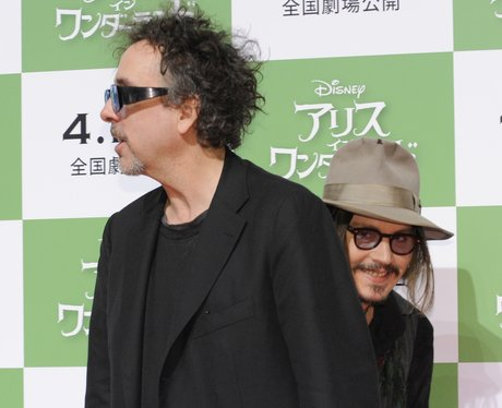 Johnny Depp photobombs Tim Burton