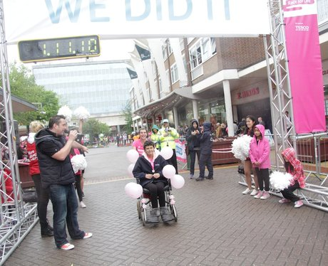 The Finish Line at Race for Life Solihull