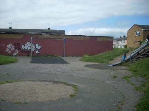 Play area in Vange recreation ground